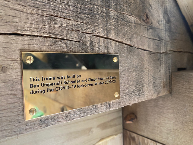 The timber frame barn plaque