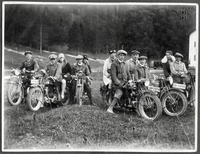 ArchivTappen24AAL4l36 Benno Bauer, Motorradbegeisterung, München, 1920er