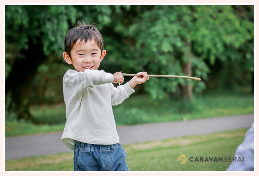 3歳の男の子 棒が大好き♡