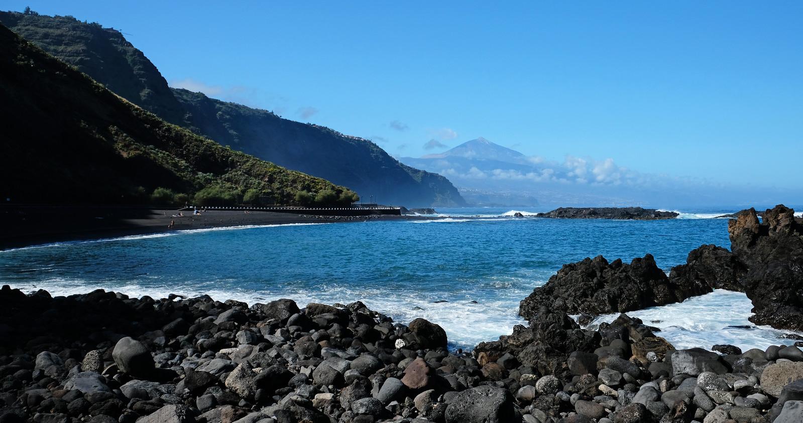 La Arena Beach, Tenerife, Canary Islands, Spain