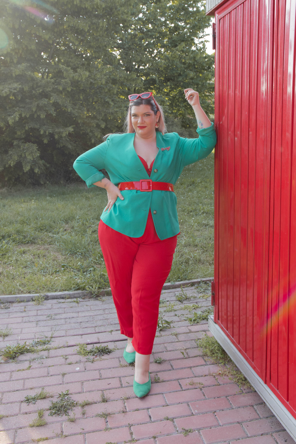 Curvy color challenge rosso e verde (4)