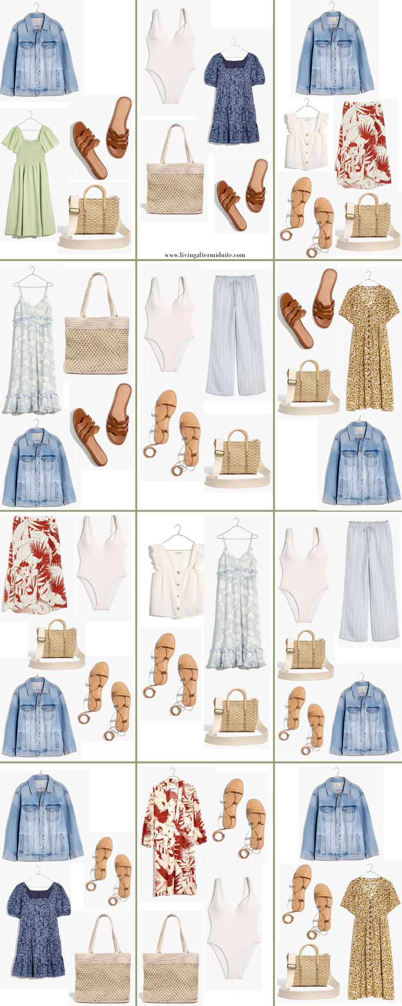 Madewell Summer Vacation Outfits