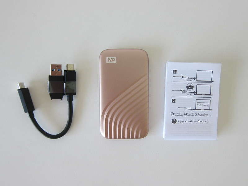 WD My Passport SSD - Box Contents
