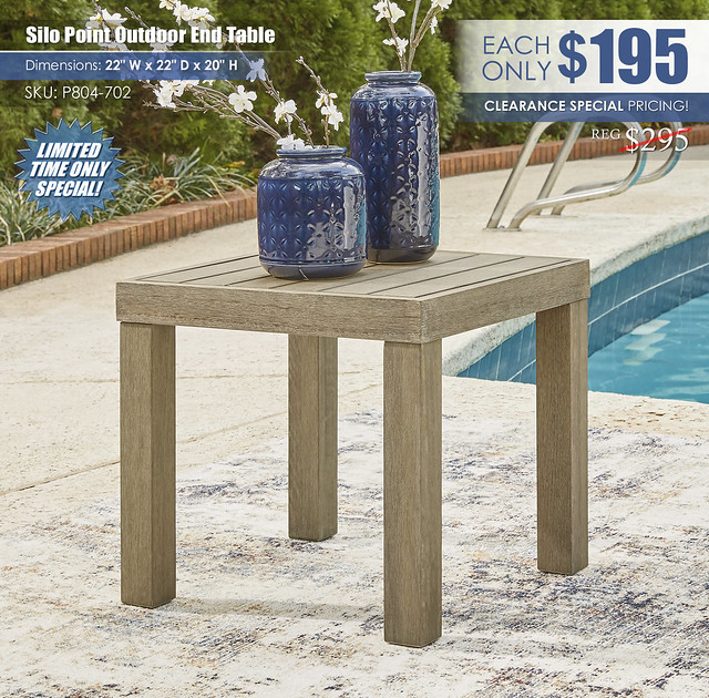 Silo Point Outdoor End Table_P804-702