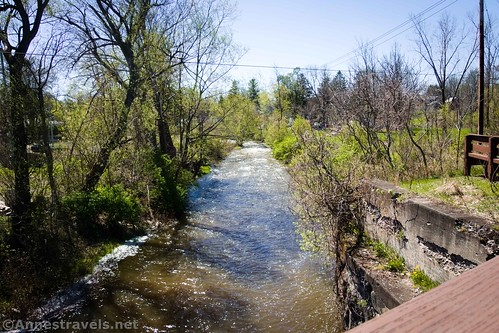 Murder Creek from the old rail bridge, Clarence Pathways, Akron, New York