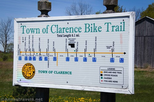 Peanut Line Trail through the town of Clarence, New York