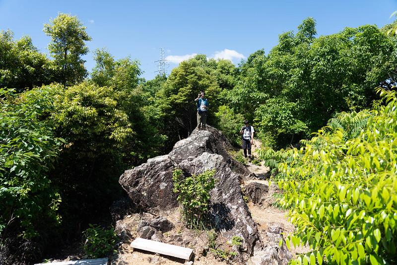 湖西連峰のラクダ岩
