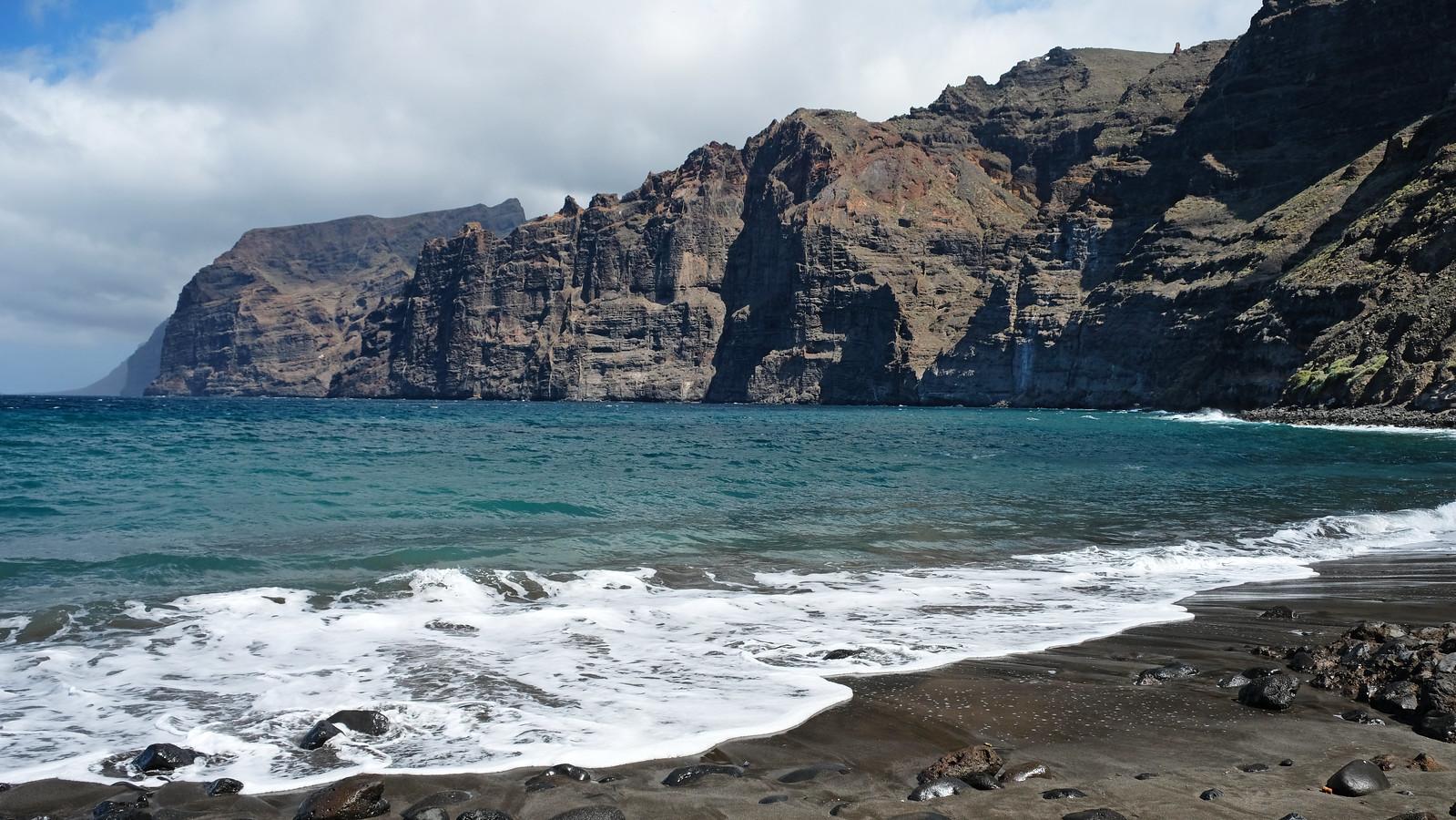Playa de los Guíos, Los Gigantes, Tenerife, Canary Islands, Spain