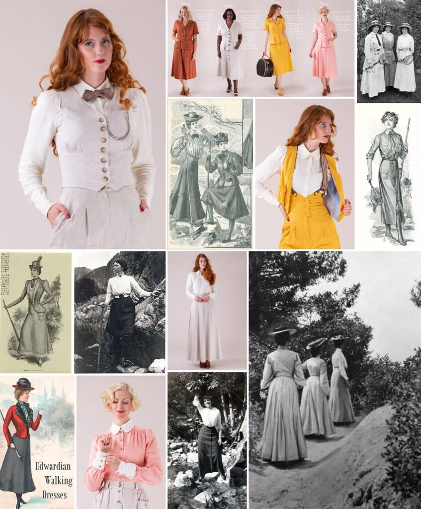 emmy design, edwardian walking dress, edwardian walking costume, edwardian inspired, victorian dress, ethical fashion, cottagecore, cottagecore dress, cottagefairy