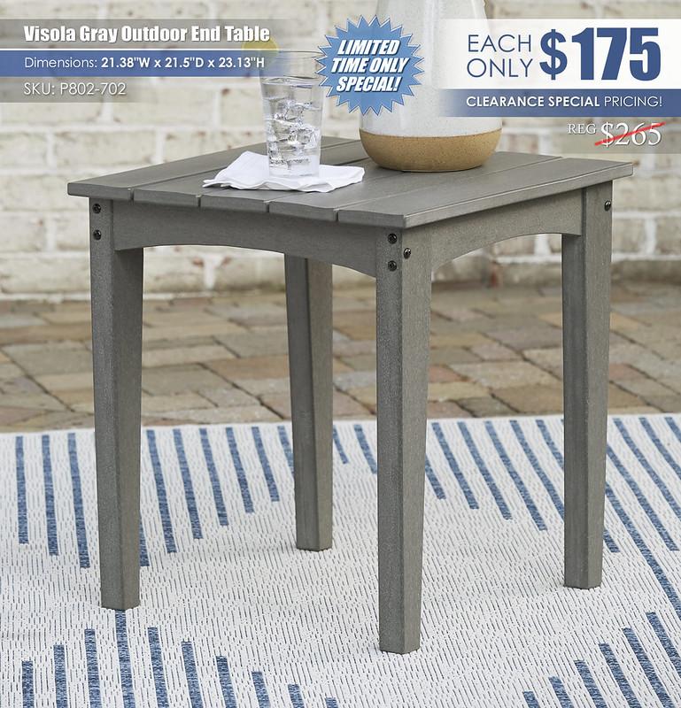 Visola Gray Outdoor End Table_P802-702
