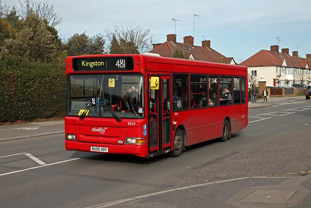 Route 481, Abellio London, 8024, BU05HDY