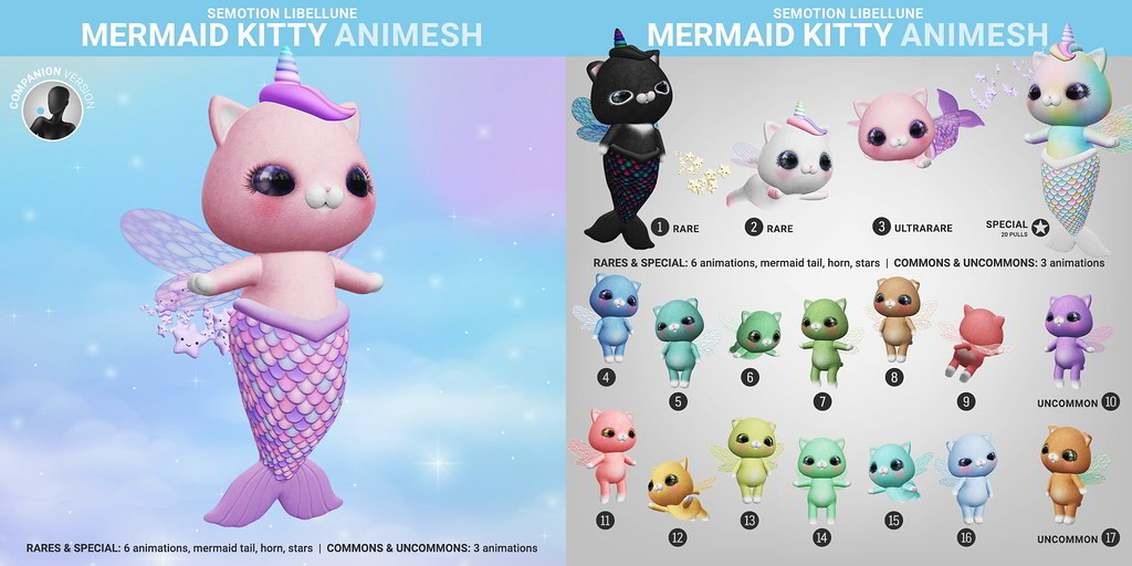 SEmotion Libellune Mermaid Animesh