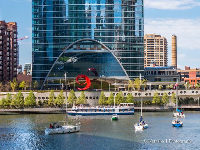 Constellation - sculpture by Santiago Calatrava. Chicago River.