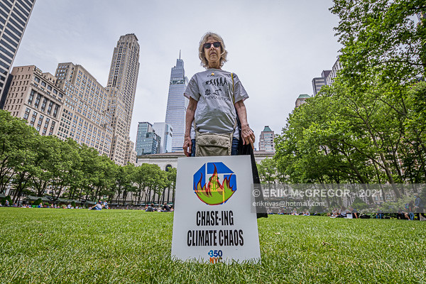 Chase Bank Finances Climate Disaster NYC Banner Action