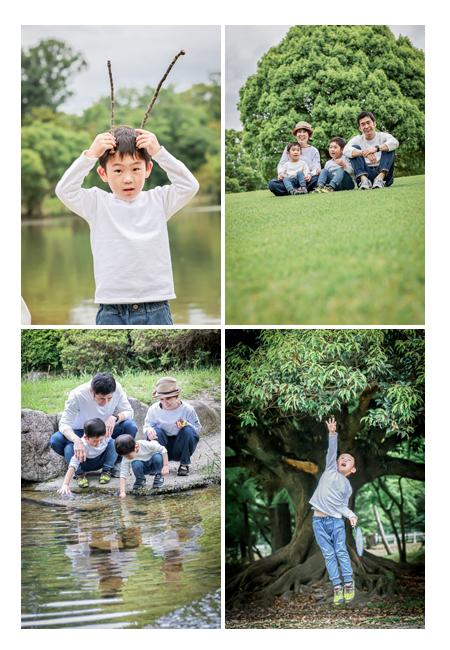 家族の休日 公園でアクティブに遊ぶ!