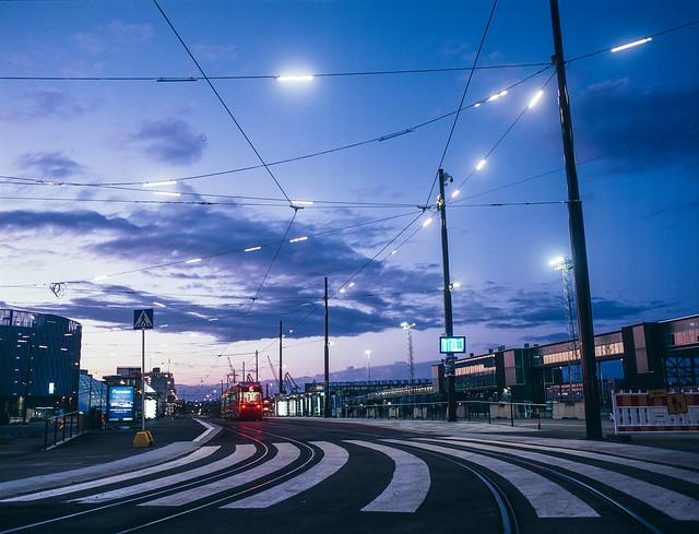 Western Terminal at dusk