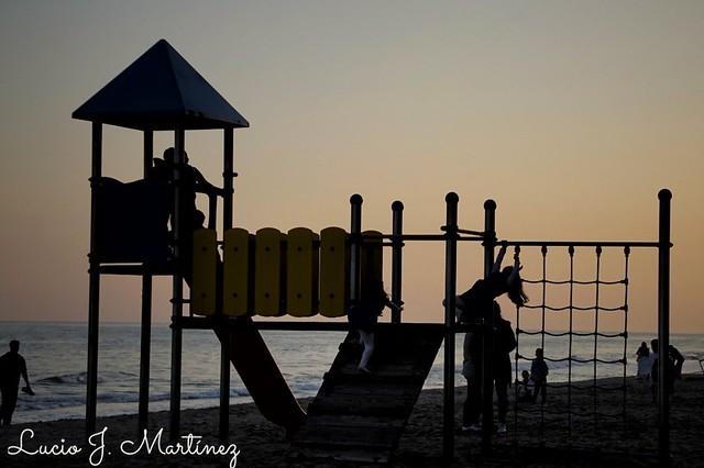 Atardecer en la playa de Calafell. Tarragona