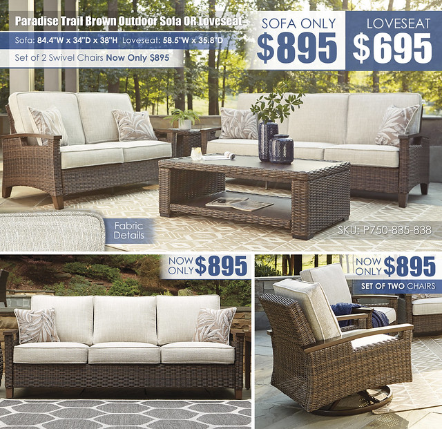 Paradise Trail Outdoor Sofa OR Loveseat_P750