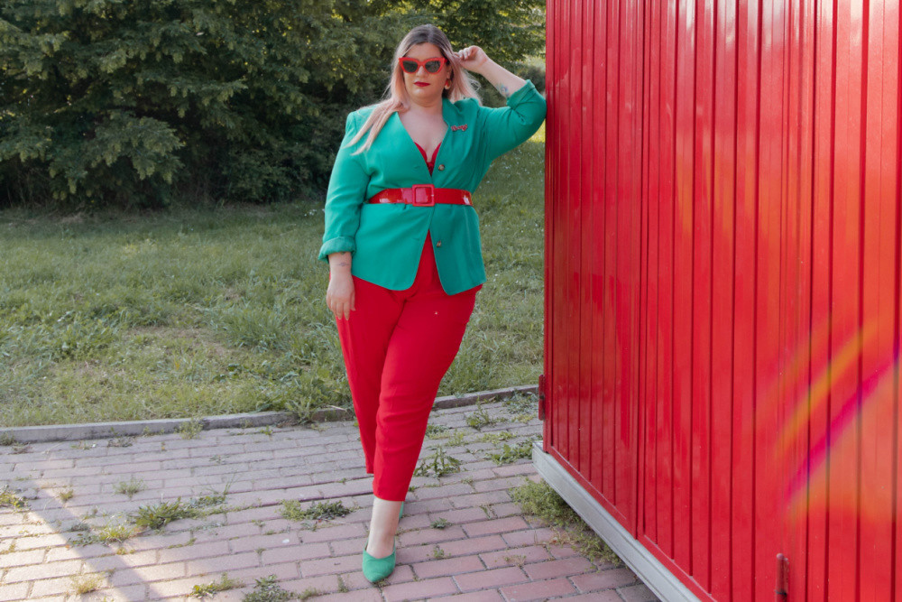 Curvy color challenge rosso e verde (6)