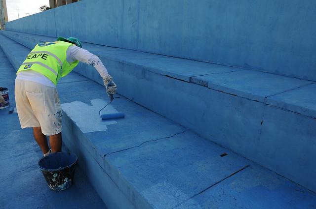 Centro Olímpico do Recanto das Emas ganha limpeza e pintura