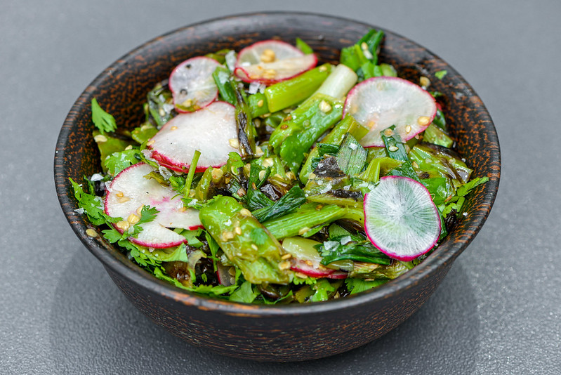 Grilled Shishito & Scallion Salad
