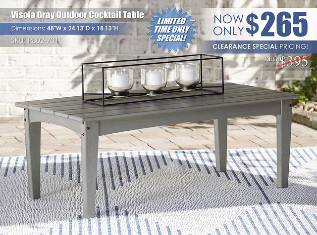 Visola Gray Outdoor Cocktail Table_P802-701