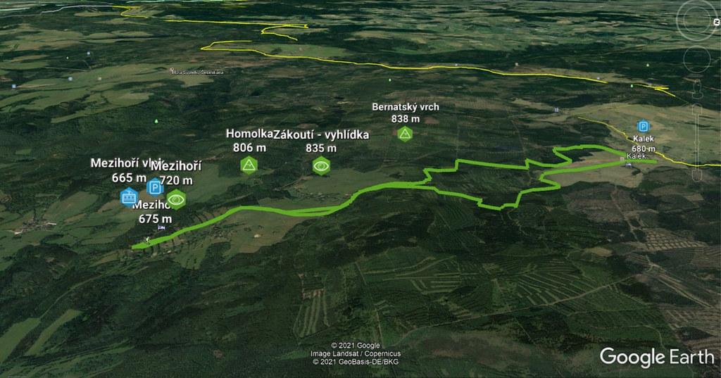 Mezihoří - Bernatský vrch - Kalek Krušné hory Czech photo 02