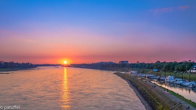 Sunset over the rhine