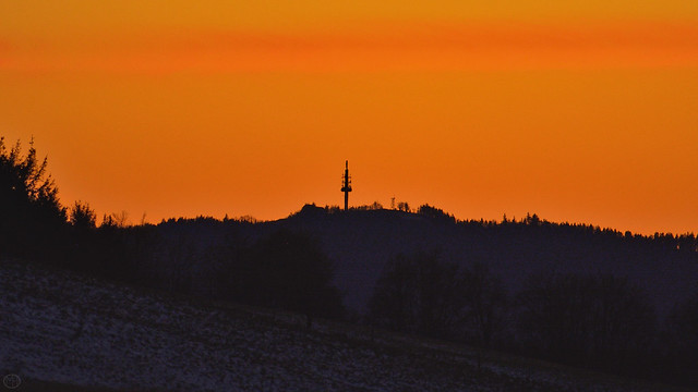 red sky, dark tower