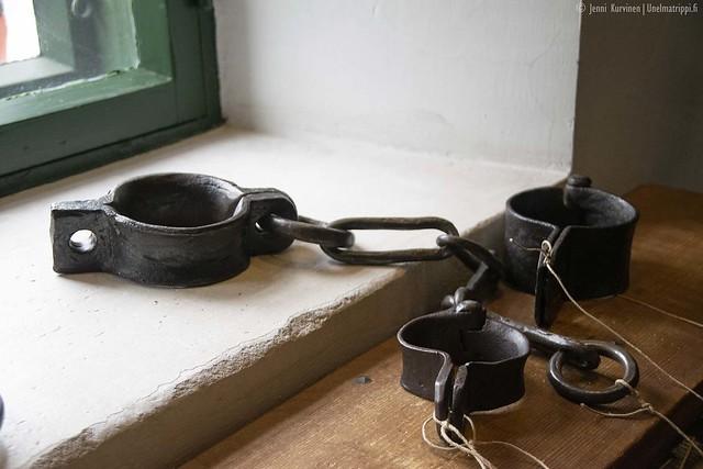 Kahleita Vita Björnin vankilamuseossa