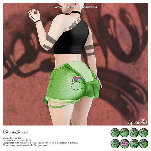Epicine - Tarra Shorts - Moody Greens Ad
