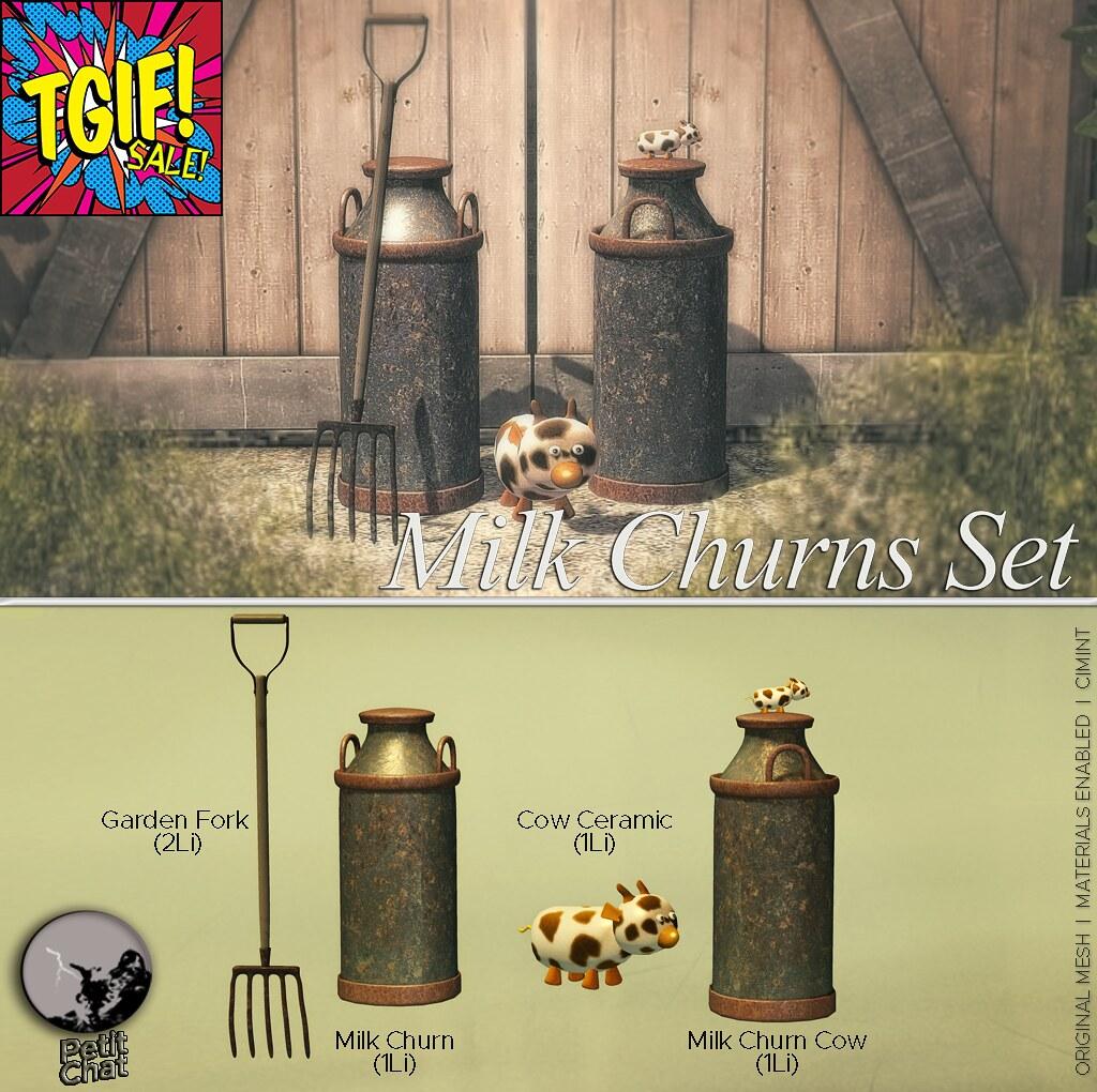 Milk Churns Set : 50 L$ Deal @ TGIF sale