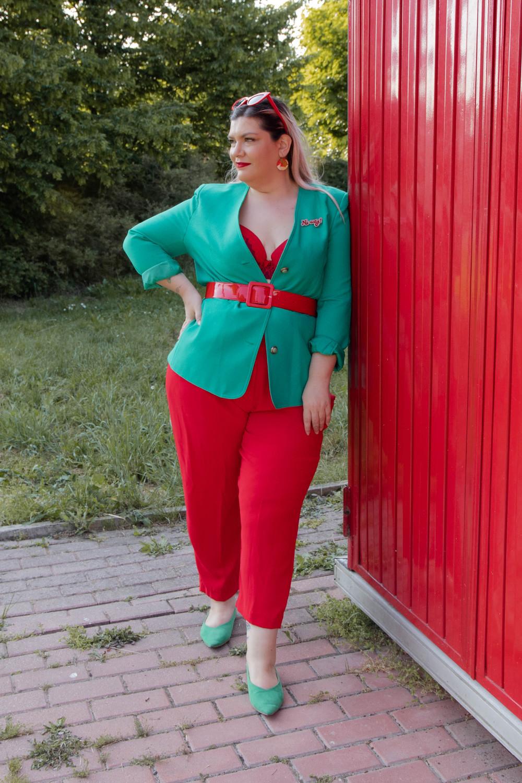 Curvy color challenge rosso e verde (2)