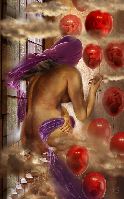 blood red color balloon - NATIVITY