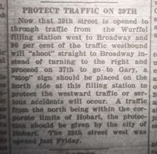 2021-06-03. 1924-06-24 Gazette, Wurffel filling station on 39th
