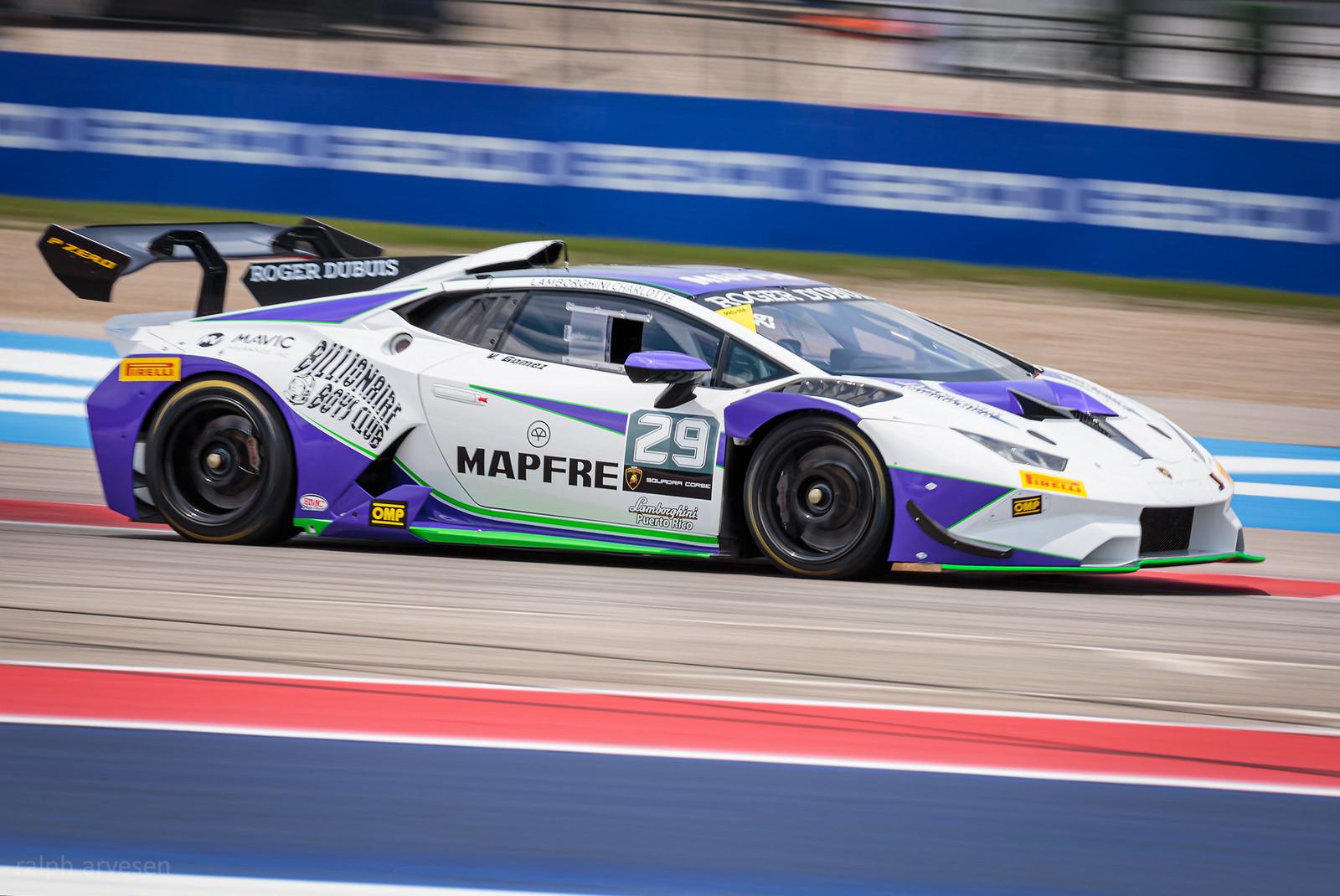 Lamborghini Super Trofeo Race | Texas Review | Ralph Arvesen