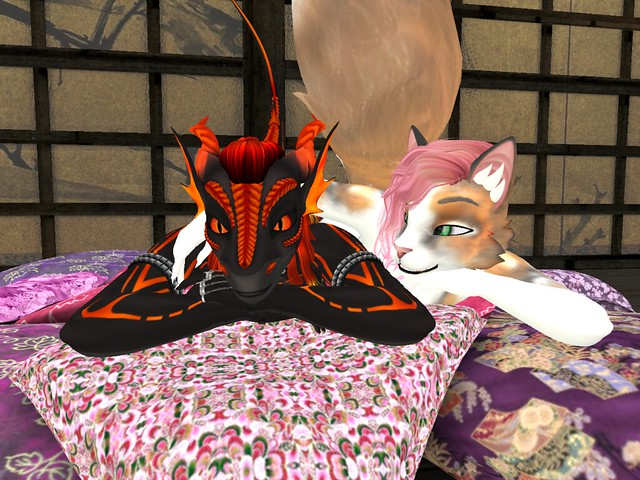 laying with a dragon~