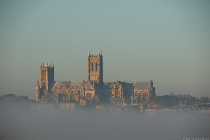 Lincoln covered in fog