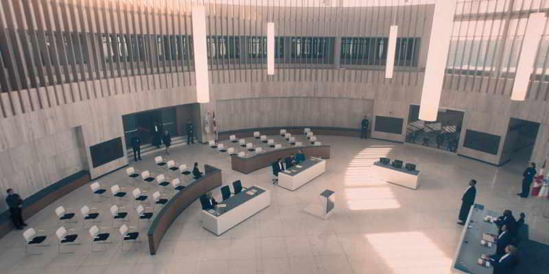 The Handmaid's Tale court room