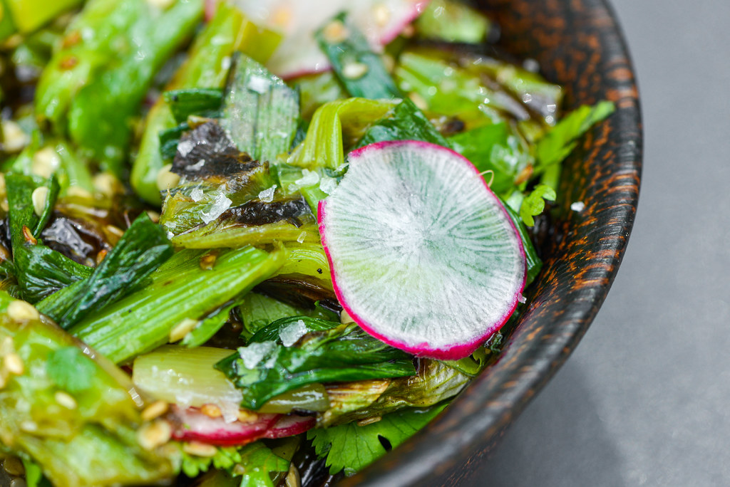 Grilled Shishito Pepper and Scallion Salad