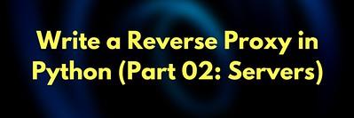 Write a Reverse Proxy  Server in Python: Part 2 (Server Pool)