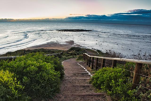 Winding pathway to the beach