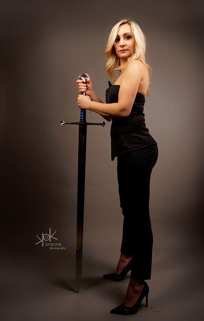 Warrior Businesswoman portraits with Lamprini Nikou by SpirosK photography (II: The Sword-bearer)