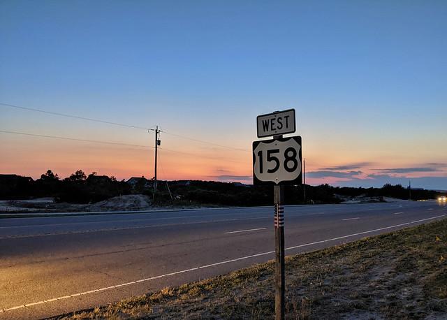 sunset on RT 158
