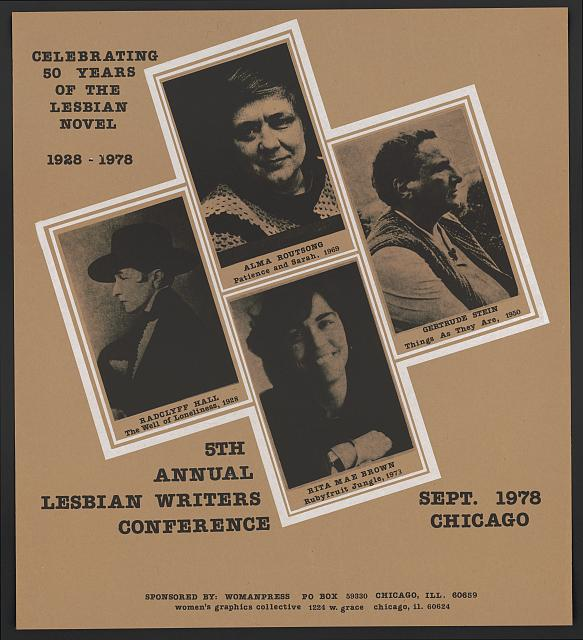 Celebrating 50 years of the lesbian novel, 1928-1978 : 5th annual lesbian writers conference, Sept. 1978, Chicago (LOC)