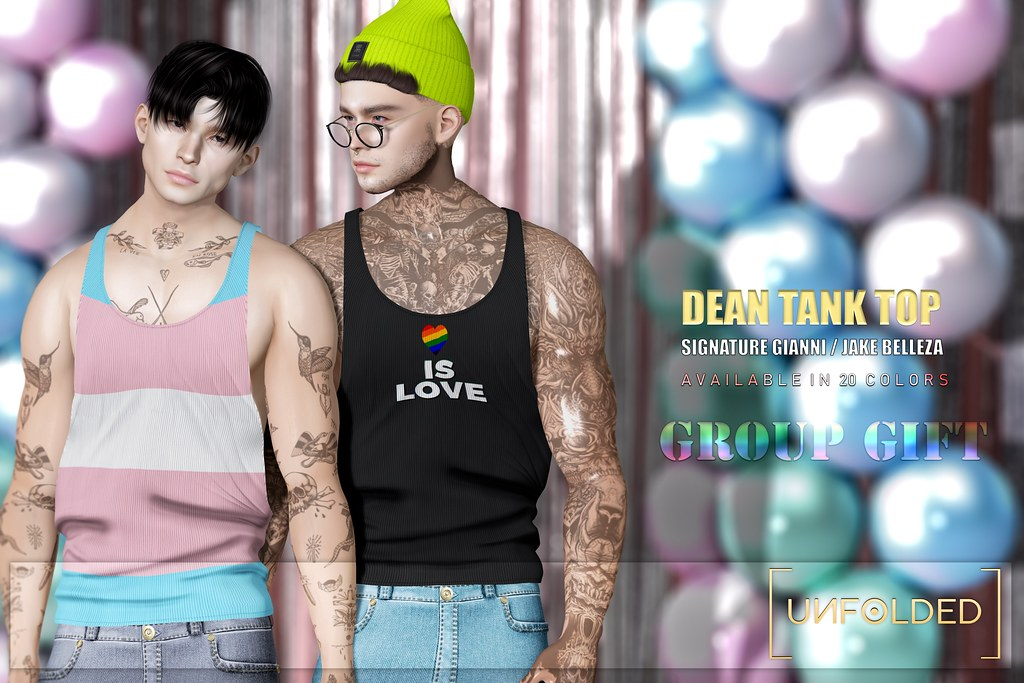 UNFOLDED X Dean Tank Top ♥ GROUP GIFT ♥