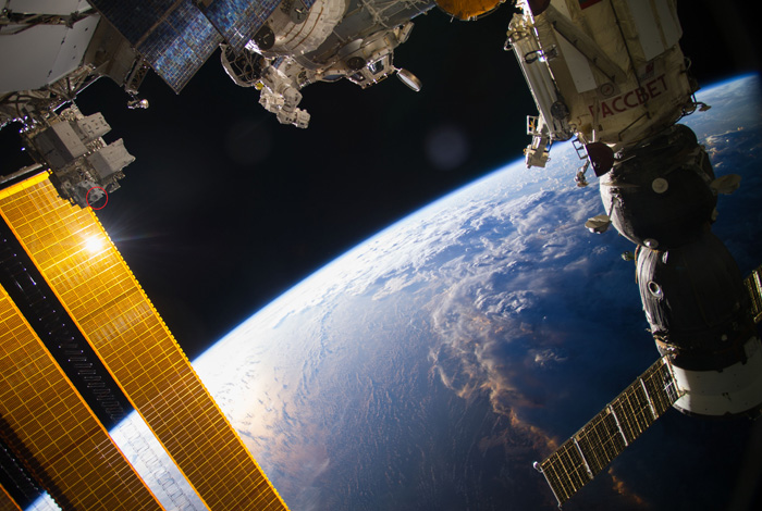 A SWaP instrument onboard the International Space Station.