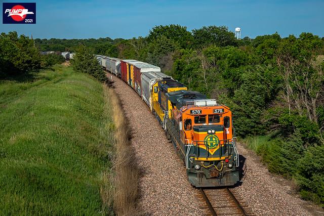Westbound BNSF Local Train at Sutton, NE