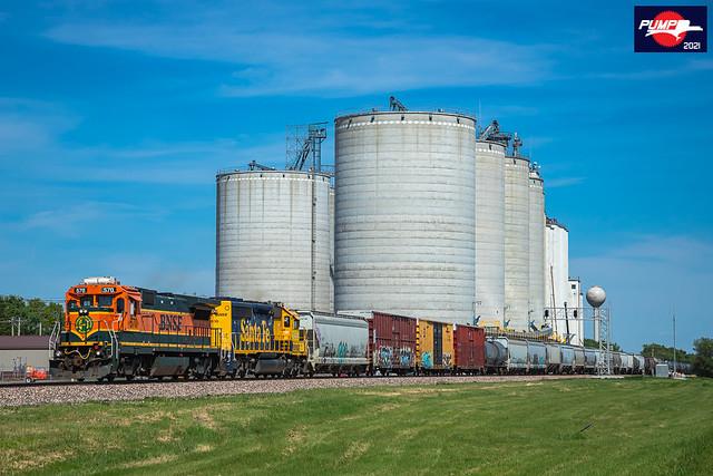 Westbound BNSF Local Train at Dorchester, NE