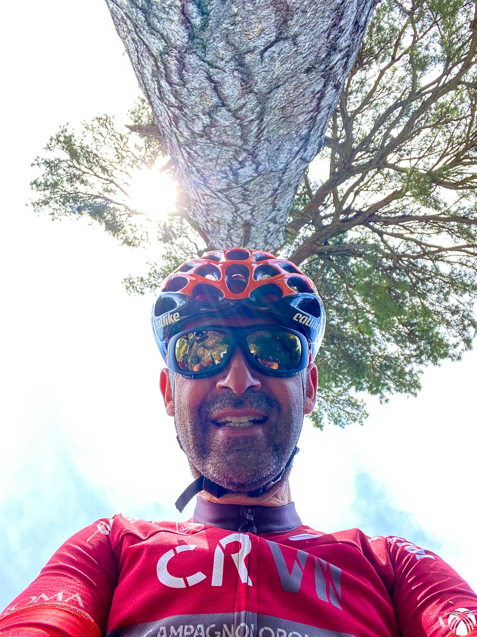 Autofoto con el pino Galapán